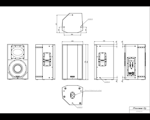 Pioneer XPRS 15 profesionalios koloneles