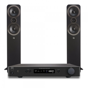 NAD C338 bei Q acoustics 3050i